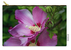 Rose Of Sharon Hibiscus Vertical Carry-all Pouch by Garry McMichael