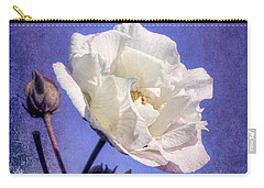 Carry-all Pouch featuring the photograph Rose Of Sharon In Blue Fog by Elaine Teague