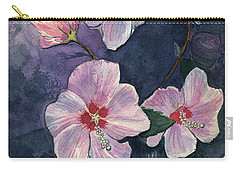 Rose Of Sharon Carry-all Pouch by Katherine Miller