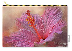 Rose Of Sharon Texture Carry-all Pouch