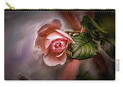 Carry-all Pouch featuring the mixed media Rose On Paint #g5 by Leif Sohlman