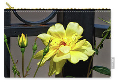 Rose On Wrought Iron Carry-all Pouch