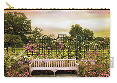 Carry-all Pouch featuring the photograph Rose Respite by Jessica Jenney