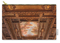 Carry-all Pouch featuring the photograph Rose Room Ceiling by Jessica Jenney
