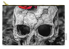 Rose Skull Carry-all Pouch by Martina Fagan