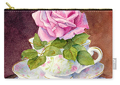 Rose Tea Carry-all Pouch by Bonnie Rinier