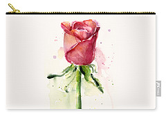 Rose Watercolor Carry-all Pouch by Olga Shvartsur