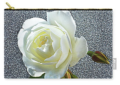 Rose With Some Sparkle Carry-all Pouch by Terence Davis