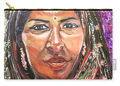 Carry-all Pouch featuring the painting Roseanne Kala - True Colors by Belinda Low