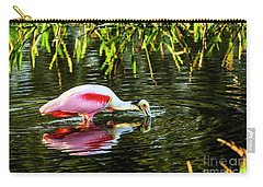 Roseate Spoonbill Feeding Carry-all Pouch