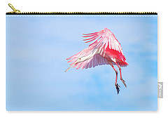 Roseate Spoonbill Final Approach Carry-all Pouch