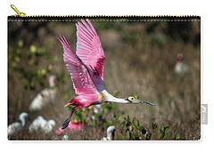Roseate Spoonbill Flying Carry-all Pouch