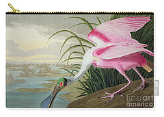 Roseate Spoonbill Carry-all Pouch by John James Audubon