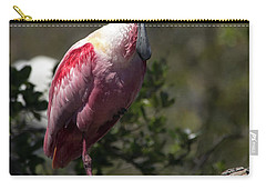 Roseate Spoonbill Carry-all Pouch by Lamarre Labadie