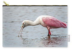 Carry-all Pouch featuring the photograph Roseate Spoonbill by Paul Freidlund