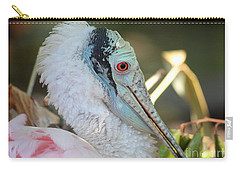 Roseate Spoonbill Profile Carry-all Pouch by Carol Groenen