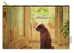 Rosebud At The Door Carry-all Pouch by Lewis Mann
