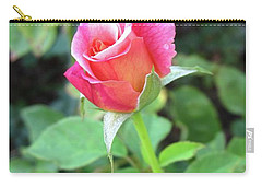 Rosebud Carry-all Pouch by Mary Ellen Frazee