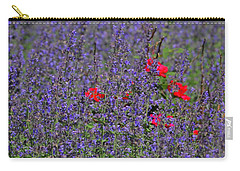 Roses Afloat In A Lavender Sea Carry-all Pouch by Tim Good