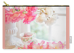 Roses And Gladiolus In Morning Light Carry-all Pouch