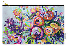 Roses And Kumquats Carry-all Pouch by Kristin Whitney