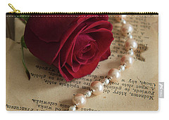 Roses And Pearls Carry-all Pouch