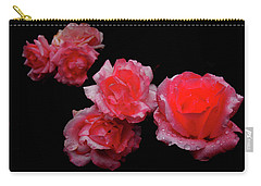 Roses And Rain Carry-all Pouch