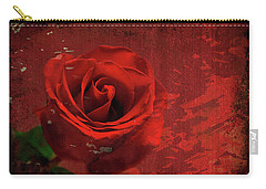Carry-all Pouch featuring the photograph Roses Are Still Red by Bonnie Willis
