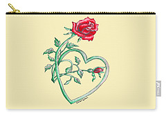 Roses Hearts Lace Flowers Transparency       Carry-all Pouch