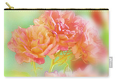 Carry-all Pouch featuring the photograph Roses In Threes by Donna Bentley