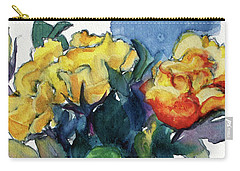 Roses In Vase Still Life I Carry-all Pouch