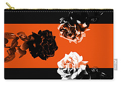 Roses Interact With Orange Carry-all Pouch