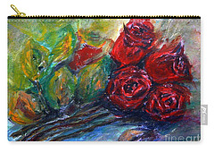 Roses Carry-all Pouch by Jasna Dragun