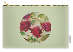 Carry-all Pouch featuring the painting Roses by Mary Wolf