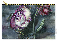 Carry-all Pouch featuring the painting Roses Never Die by Nadine Dennis