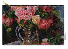 Roses Carry-all Pouch by Pierre Auguste Renoir