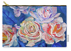 Roses, Roses On Blue Carry-all Pouch
