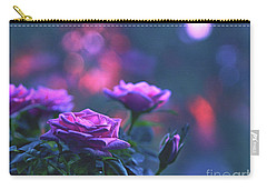 Carry-all Pouch featuring the photograph Roses With Evening Tint by Lance Sheridan-Peel