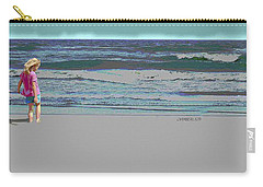 Rosie On The Beach Carry-all Pouch