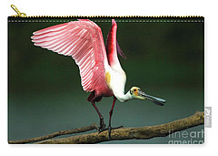 Rosiette Spoonbill Texas Carry-all Pouch by Bob Christopher