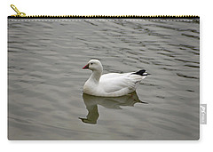 Carry-all Pouch featuring the photograph Ross's Goose by Sandy Keeton