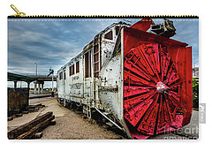 Carry-all Pouch featuring the photograph Rotary Snow Plow Vintage Train - Utah by Gary Whitton