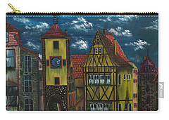 Carry-all Pouch featuring the painting Rothenburg Ob Der Tauber by The GYPSY And DEBBIE