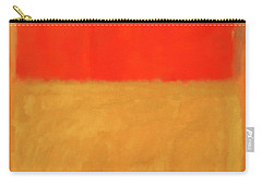 Rothko's Orange And Tan Carry-all Pouch