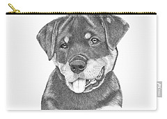 Rottweiler Puppy- Chloe Carry-all Pouch by Patricia Hiltz