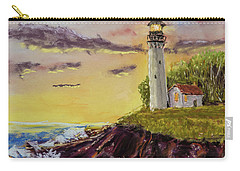 Rough Seas At Sunset Carry-all Pouch by Barry Jones