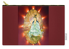 Carry-all Pouch featuring the photograph Round Halo Kuan Yin by Lanjee Chee