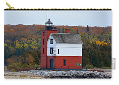 Round Island Lighthouse In October Carry-all Pouch