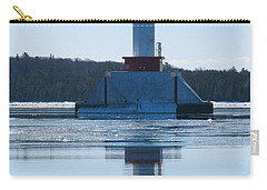 Round Island Passage Light In Winter Carry-all Pouch