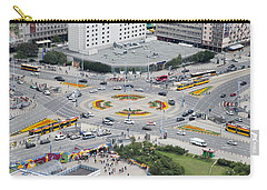Carry-all Pouch featuring the photograph Roundabout In Warsaw by Chevy Fleet